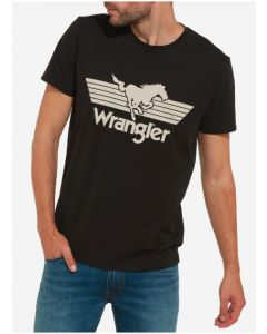 T-SHIRT WRANGLER GRAPHIC LOGO BLACK