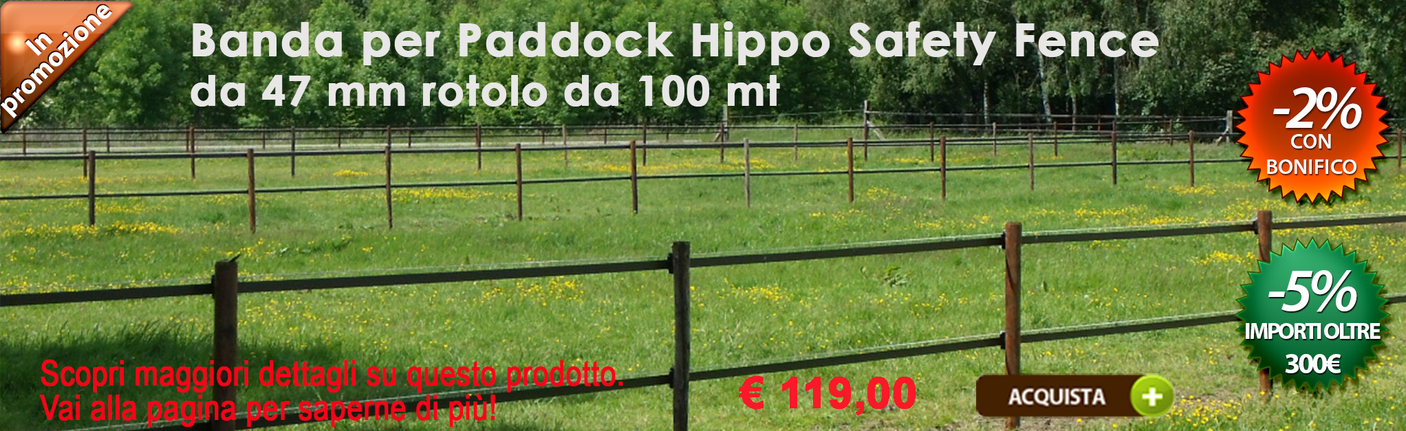 Banda Hippo Safety Fence 47 mm