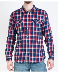 CAMICIA WRANGLER LS 2PKT FLAP SCARLET RED
