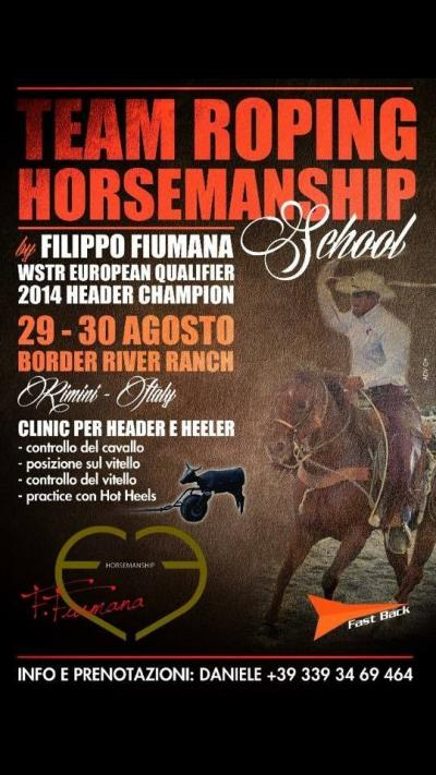 Team Roping Horsemanship Filippo Fiumana clinic al Border River ranch